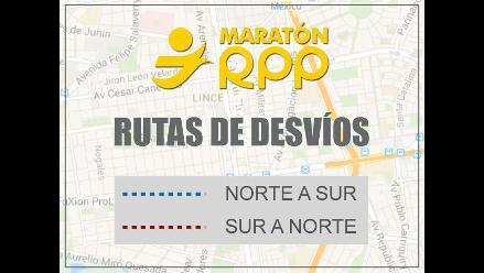 ¡Tome precauciones!: Plan de desvío para la Maratón RPP