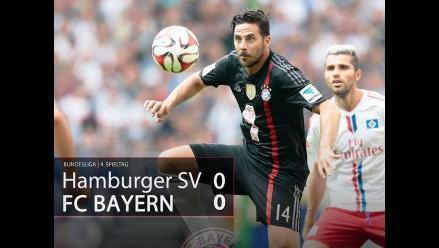 Bayern Munich con Pizarro empató 0-0 ante Hamburgo por la Bundesliga