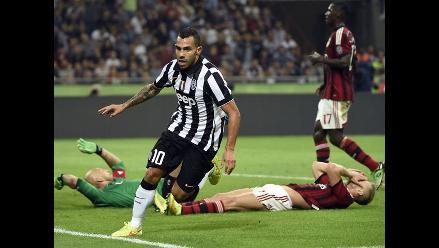 AC Milan vs. Juventus: Carlos Tévez anotó y los de Turín celebraron