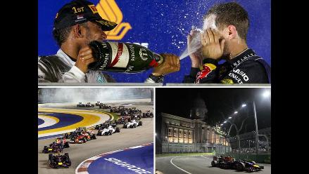GP de Singapur: Mira las espectaculares postales que dejó triunfo de Hamilton
