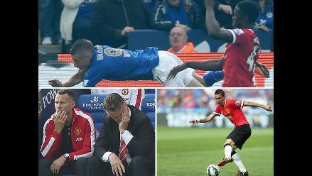 Premier: Así cayó Manchester United con Di María y Falcao ante Leicester