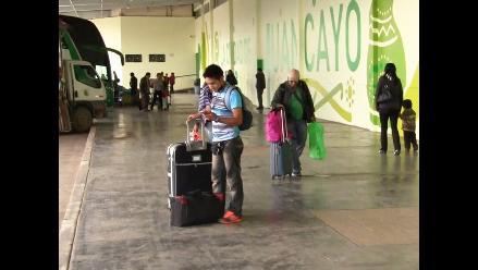 Huancayo: buses llegan con 8 horas de retraso tras bloqueo de carretera