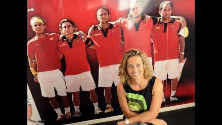 Copa Davis: Gala León agarra al equipo español y se crea una polémica