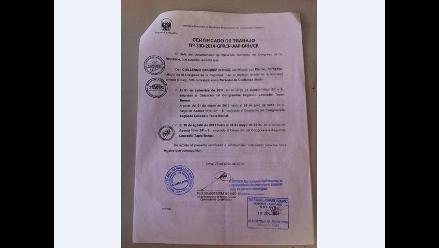 Chiclayo: candidato a Cochabamba comprobó que sí trabajó en el Congreso