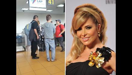 Gloria Trevi llegó a Lima y confirma visita a Cusco