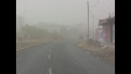 Ica: vientos huracanados afectan la visibilidad en la Panamericana Sur