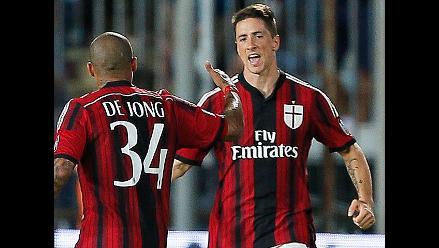 Milan remonta y empata 2-2 con Empoli en partido donde Fernando Torres anotó