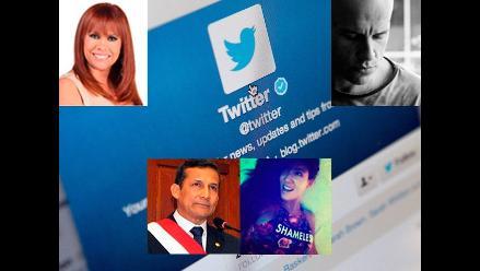 Conoce el valor del Twitter de los peruanos más mediáticos