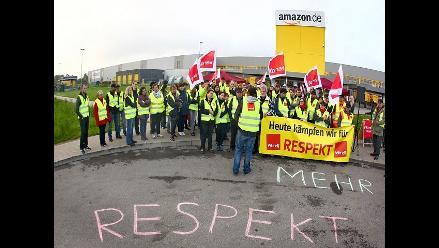 Sindicato alemán paraliza cinco centros logísticos de Amazon