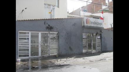 Chiclayo: destrozos en local de Indecopi superan los 30 mil soles
