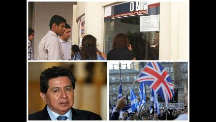 Pasó en la semana: Derogan aporte de independientes, Se realizó el referéndum en escocia, José León sobre narco mexicano: Yo nunca dije que nos conocíamos