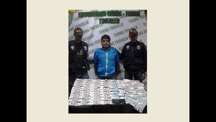Cae sujeto que pretendía introducir en Trujillo 38 mil soles falsos