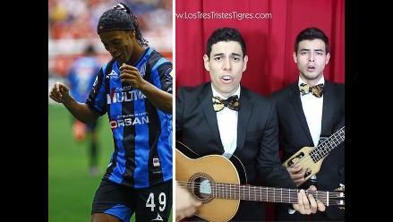 Ronaldinho en Querétaro: Le dedican canción que hace reír a mexicanos