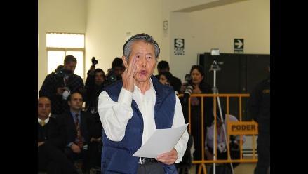 Las imágenes de la colérica sesión del expresidente Alberto Fujimori