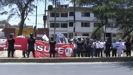 Piura: Sutep protestó contra vicepresidenta de la República