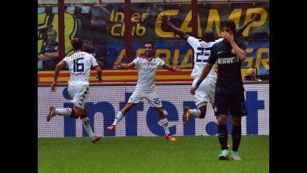 Inter cae goleado ante Cagliari y se aleja de Juventus y Roma en el Calcio