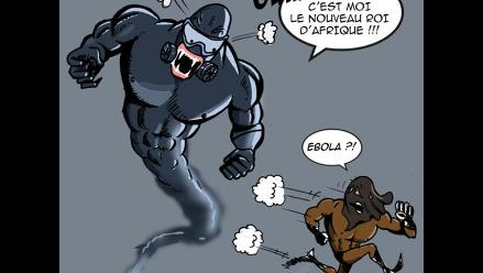 Délestron, un villano de cómic que se enfrenta al ébola