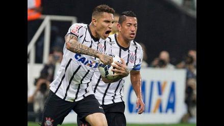 Con gol de Paolo Guerrero: Corinthians derrotó 2-0 al Atlético Mineiro