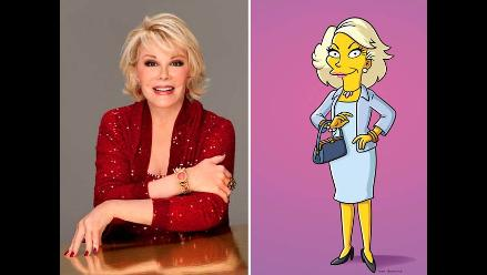 Los Simpsons rindieron tributo a Joan Rivers