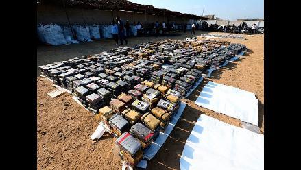 Incautan 820 kilos de cocaína al noroeste de Colombia