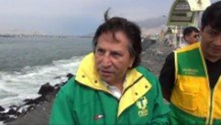 Chimbote: Alejandro Toledo evita hablar sobre ´Ecoteva´ y Crisólogo