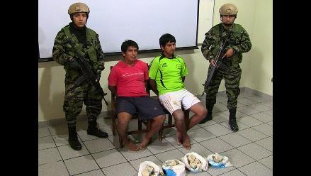 Vraem: capturan a sujetos que transportaban droga en motocicleta