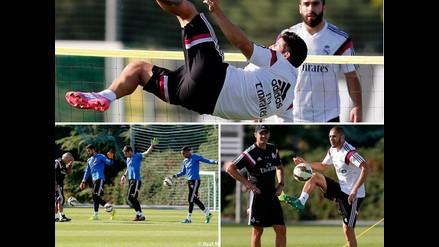 Real Madrid: James Rodríguez y su acrobática exhibición en entrenamiento