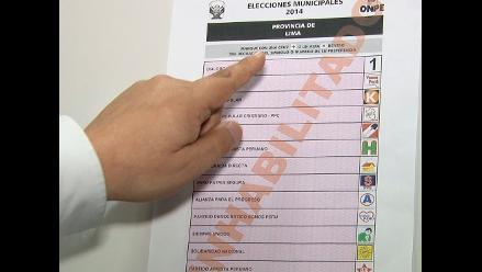 ONPE explica cómo se debe marcar en la cédula de votación