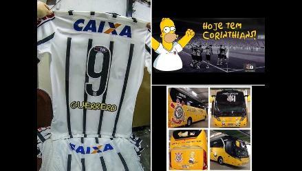Paolo Guerrero y Corinthians disfrutan con la invasión de los Simpson
