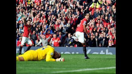 Manchester United vence 2-1 al Everton con gol de Radamel Falcao