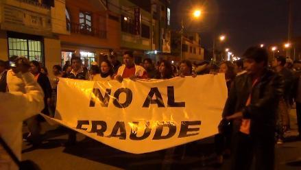 Chimbote: protestan contra elecciones y denuncian fraude