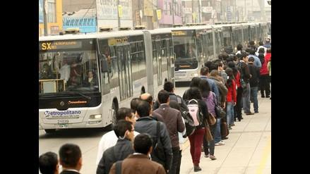 Metropolitano ofrecerá este miércoles solo servicios regulares A, B y C