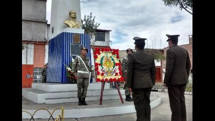 Rinden homenaje a Miguel Grau en Cajamarca
