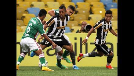 Con Luis Ramírez: Botafogo no levanta cabeza y cae 0-1 ante Palmeiras