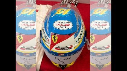Alonso lucirá casco con mensaje de ánimo a Jules Bianchi en GP de Rusia