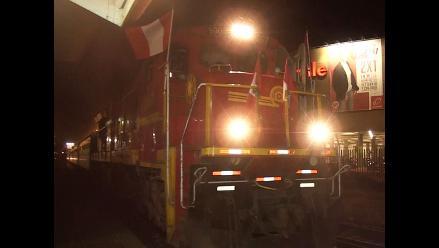 Huancayo: tren turístico arribó a la provincia con 400 turistas