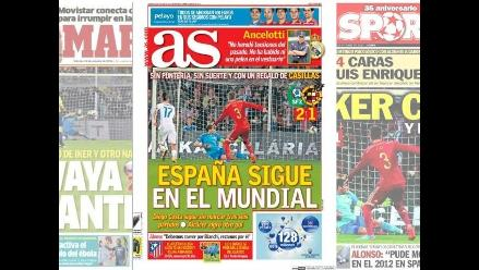 Eslovaquia 2-1 España: Prensa ibérica da con palo al equipo de Del Bosque
