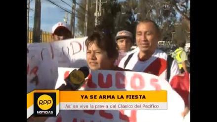 Chile vs. Perú: Hinchas peruanos arman fiesta en estadio de Valparaíso