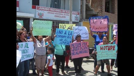 Chiclayo: denuncian fraude y piden nuevas elecciones en Motupe