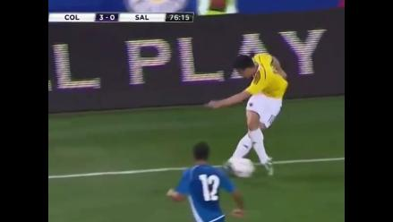 James Rodríguez regaló una vistosa rabona en el Colombia vs. El Salvador