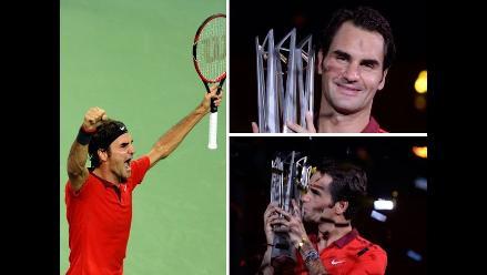 Masters 1000 de Shanghai: Así celebró Federer tras ganar la final a Simon