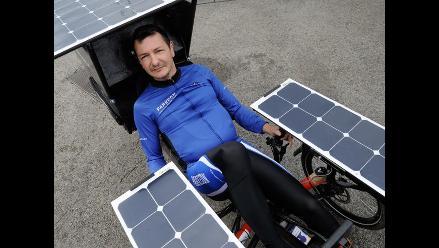 Francés recorrerá Argentina con una bicicleta solar