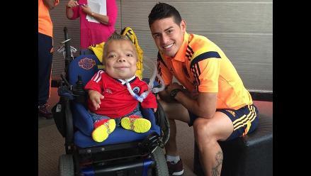 Selección Colombia: James Rodríguez y su enternecedora foto con un hincha