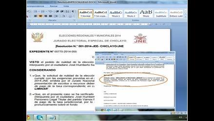 Lambayeque: JNE rechaza pedido de nulidad de elecciones en Illimo