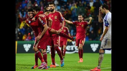 Diego Costa marcó su primer gol con España después de 514 minutos
