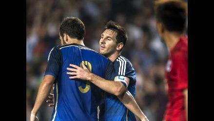 Argentina golea 7-0 a Hong Kong con doblete de Lionel Messi
