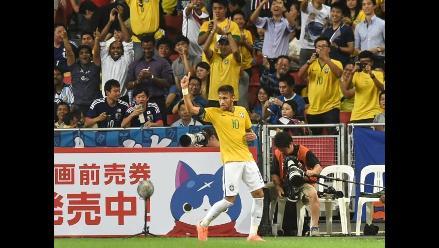 Japón 0-4 Brasil: Neymar ya es el quinto mayor goleador del