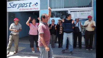 Chiclayo: trabajadores de Serpost cumplieron 29 días en huelga