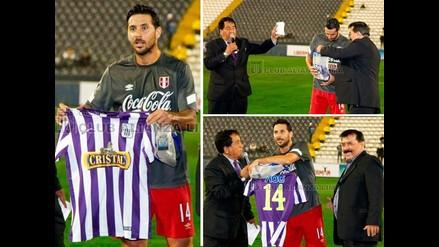 Claudio Pizarro y el homenaje que le brindó Alianza Lima en Matute
