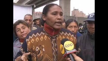 Ambulantes de Tacora piden a Luis Castañeda ser reubicados